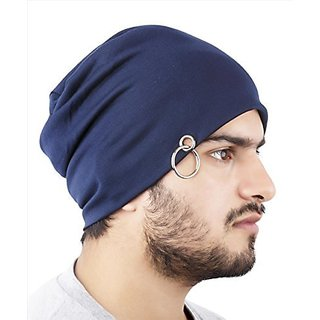Buy Noise Blue Cotton Beanie Caps Online - Get 45% Off 1d378e84a57
