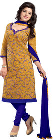 Aaina Beige Cambric cotton Printed Suits (SB-2900) (Unstitched)