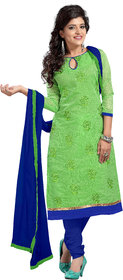 Aaina Green Cambric cotton Printed Suits (SB-2901) (Unstitched)
