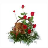 FLABERRY - CUTE TEDDY WITH RED ROSES