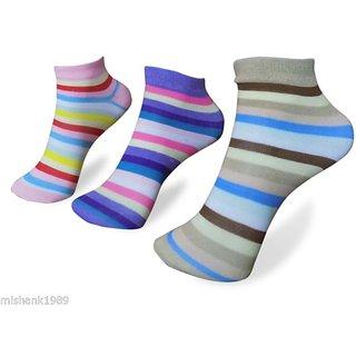 FNB Set of 3 Womens Ankle Length Socks