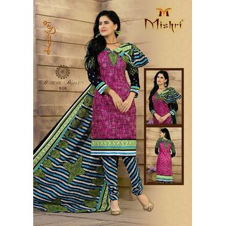Vatika women unstitched dress material cotton printedMutli colour