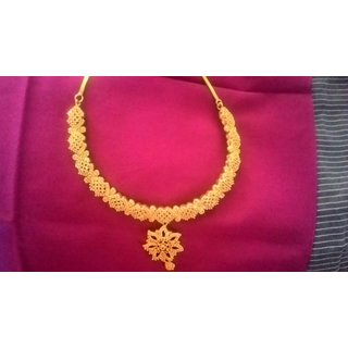 CZ stones short necklace