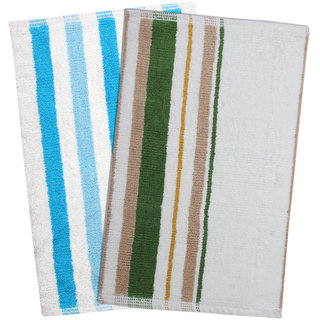 Saral Home set of 2 Cotton h/woven Mats