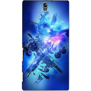 Instyler Premium Digital Printed 3D Back Cover For Sony C5 Dual 3DSONYC5DDS-10068