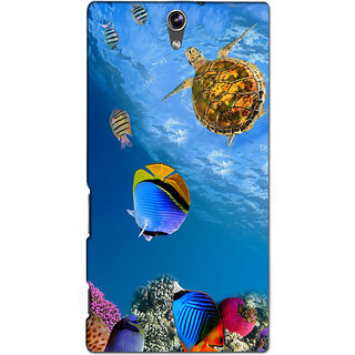 Instyler Premium Digital Printed 3D Back Cover For Sony C5 Dual 3DSONYC5DDS-10093