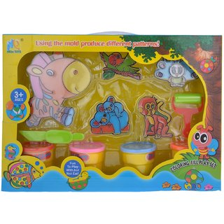 smiles creation Animal modelling clay play set with 4 color  5 Animal Shape