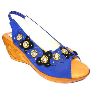 Women's Blue Wedges