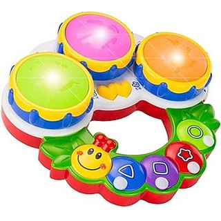 smiles creation Educational Musical Drum With Light  music and Poems  Quiz