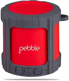 Pebble BLAST Portable Bluetooth Speaker Red