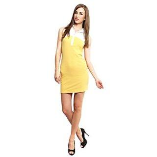 Xny Yellow Polo Dress
