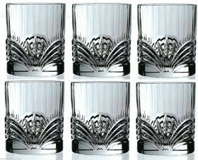 RCR AUREA CRYSTAL GOLDEN Crystal whiskey glasses / Wine Tumbler 21cl Set of 6