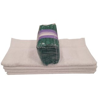 Welhouse India Combo-10 Soft Touch Premium Hand Towel-White  Face Towel