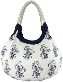Yolo Women's Alva   BBlue Printed Hobo Bag
