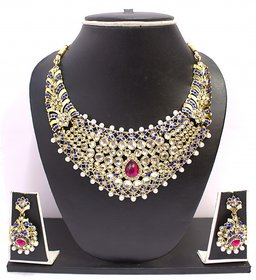 Zaveri Pearls Austrian Diamond Lavishing Jewellery Set