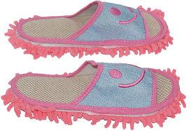 Muren Women's Blue  Pink Flip Flops