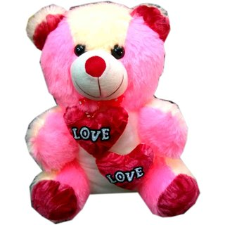 Nitoo Gift Corner Soft Toy Fiber Pink Plush Kids Teddy Bear