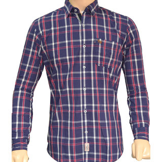 Heera Fabrics Nre  Casual  Check Shirt M Size For Men