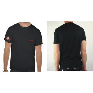 Out Flank Cotton Casual Men T-shirt Black Colour