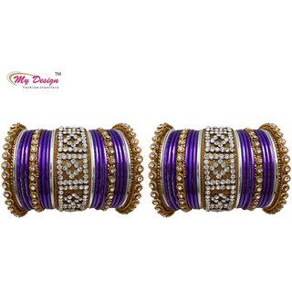 Bridal Chura Purple Wedding Bangles Chuda By My Design