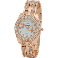 Evelyn Analogue White Dial Womens Watch - EVE-315