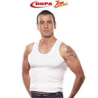 Rupa Jon Men's White Vests