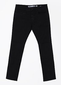 Indigo Jeanscode Men's  Cotton and Elastane Slim Fit Black Jeans
