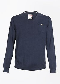 Indigo Jeanscode Solid Mens Round Neck T-Shirt 100 Cotton indigo color
