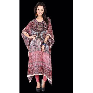Sankalan Kaftaan Kurti Georgette Colourful Comfortable Multi Color Un-1004