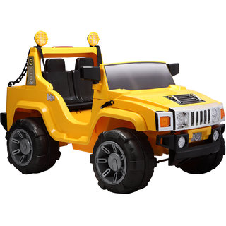 BWILD Double Seater Humvee Jeep Yellow Color