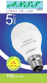 ANSS LED  5 Watt Bulb Pack of 12 Bulbs