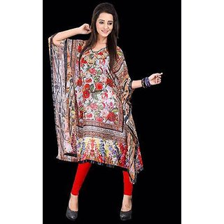 Sankalan Kaftaan Kurti Georgette Colourful Comfortable Multi Color Un-1007