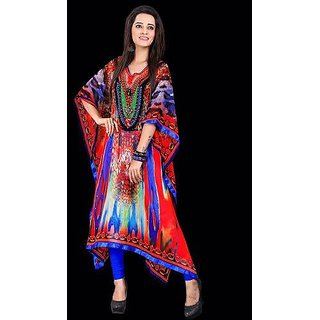 Sankalan Kaftaan Georgette Colourful Comfortable Multi Color Un-1008