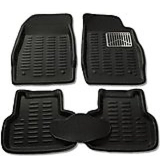 3D BLACK Car Floor MATS / Foot Mat - CHEVROLET SAIL with PETRL/DIESL sticker