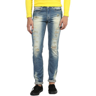 Urban Navy Strech Faded Jeans