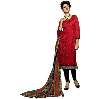 Z FASHION EMBROIDERED CHANDERI UN-STITCHED DRESS MATERIAL