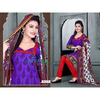 New American Crape Dress Material Designer Prints Unstitched Salwar Kameez (D1)