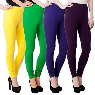 Myo Combo Pack Of 4  Premium Cotton Lycra Legging