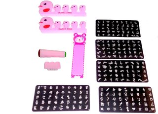 Buy Nail Art Stamping Kit With 5 Image Plate Online Get 23 Off