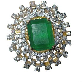 AD ring with green stone