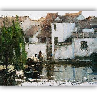 Vitalwalls Landscape Painting Canvas Art Printon Wooden Frame Scenery-266-F-60cm