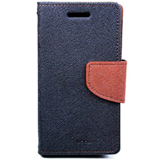 WA Mercury Goospery Wallet -Flip Case With Stand for  SAMSUNG GALAXY NOTE N7000 BROWN