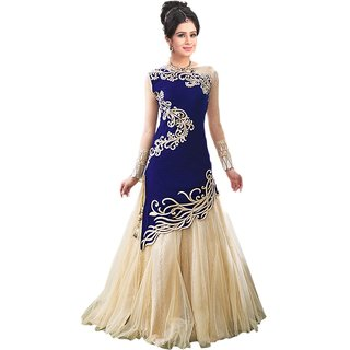 king sales zoya blue embroidered velvet suit