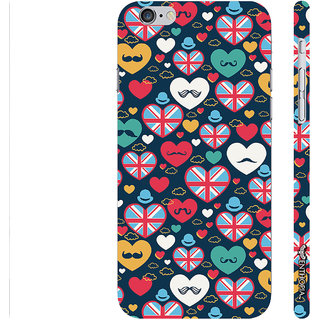 Enthopia Designer Hardshell Case Moustache Kingdom Back Cover for Apple IPhone 6 Plus