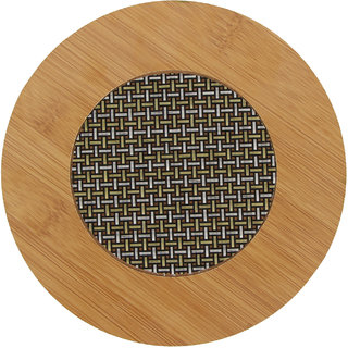 Zhuyeqing Wooden Round Mat