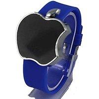 APPLE Shape Touch Screen LED Digital Watch For Boys/Girls(Blue)