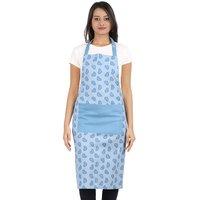 IRIS Innovations Women cotton White Blue Apron