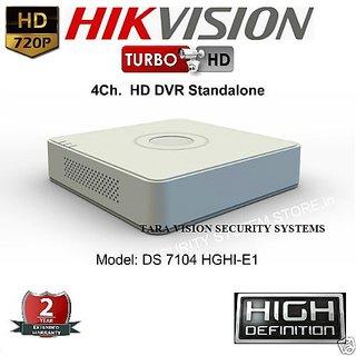 HIKVISION DS-7104HGHI-E1 Turbo HD 720P 4 Channel Tribrid HD DVR Standalone 4Ch.