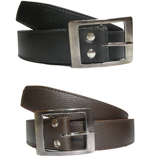 Black  Brown PU Belt For Men