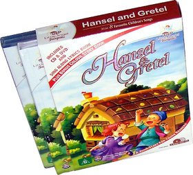 Hansel and Gretel story book (2 Book+DVD+CD)